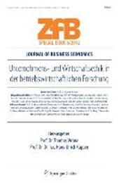 Unternehmens- Und Wirtschaftsethik in Der Betriebswirtschaftlichen Forschung