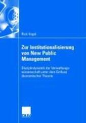 Zur Institutionalisierung von New Public Management