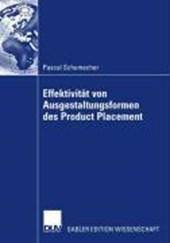 Effektivität von Ausgestaltungsformen des Product Placement