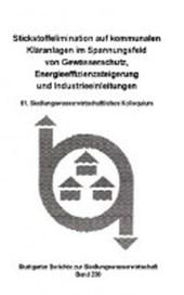 Stickstoffelimination auf kommunalen Kläranlagen im Spannungsfeld von Gewässerschutz, Energieeffizienzsteigerung undIndustrieanlagen