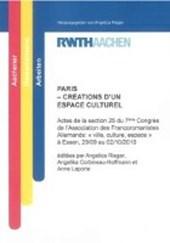 PARIS - CRÉATIONS D'UN ESPACE CULTUREL