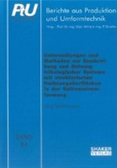 Untersuchungen und Methoden zur Beschreibung und Nutzung tribologischer Systeme mit strukturierten Halbzeugoberflächen in der Kaltmassivumformung