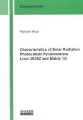 Characteristics of Solar Radiation Photovoltaic Pyranometers Licor 200SZ and Matrix 1G
