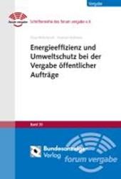 Energieeffizienz und Umweltschutz bei der Vergabe öffentlicher Aufträge