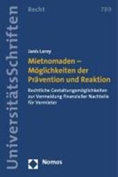 Mietnomaden - Möglichkeiten der Prävention und Reaktion