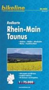 Bikeline Radkarte Deutschland Rhein-Main Taunus 1 :