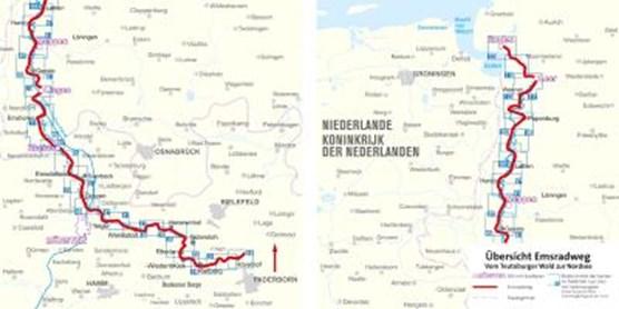 FF6030 Emsradweg, vom Teutoburger Wald zur Nordsee Kompass