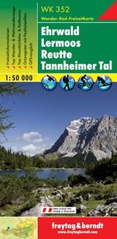 Ehrwald - Lermoos - Reutte - Tannheimer Tal - Zugspitze, Wanderkarte 1:50