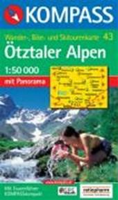 Kompass WK43 Ötztaler Alpen, Ötztal, Pitztal
