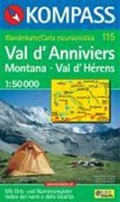 Kompass WK115 Val d'Anniviers, Montana, Val d'Hérens