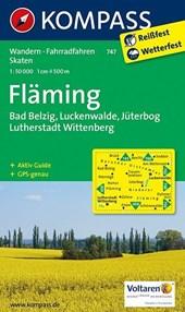 Kompass WK747 Fläming, Belzig Luckenwalde, Jüterbog, Lutherstadt, Wittenberg