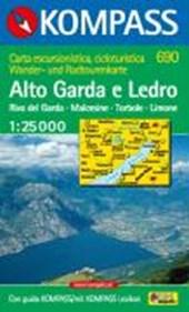 Kompass WK690 Alto Garda e Ledro, Riva del Garda, Malcesine, Torbole, Limone