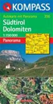 Südtirol Dolomiten 1 : 150 000. Autokarte mit Panorama