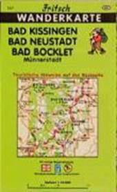 Bad Kissingen, Bad Neustadt, Bad Bocklet 1 : 35 000. Fritsch Wanderkarte