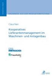 Kooperatives Lieferantenmanagement im Maschinen- und Anlagenbau