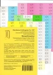 SteuerGesetze Griffregister Nr. 1217 (2017/2018): 224 selbstklebende und farbig bedruckte Griffregister für die Steuergesetze, 190.EL
