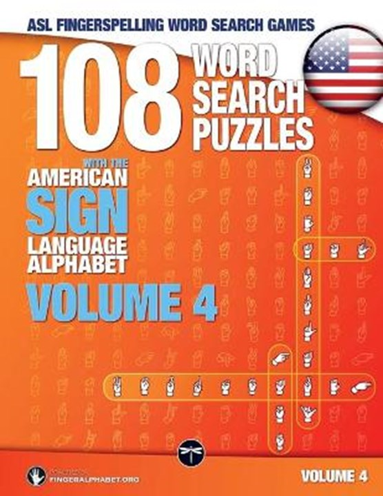 108 Word Search Puzzles with the American Sign Language Alphabet, Volume 04 (Bundle Volumes 01+02+03)