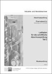 PAL-Leitfaden für die gestreckte Abschlussprüfung Teil 2 - Pharmakant/-in