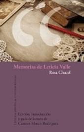 Memorias de Leticia Valle.