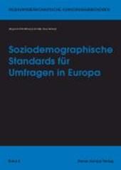 Soziodemographische Standards für Umfragen in Europa