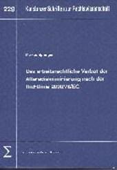 Das arbeitsrechtliche Verbot der Altersdiskriminierung nach der Richtlinie 2000/78/EG