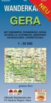 Gera 1 : 50 000 Wanderkarte