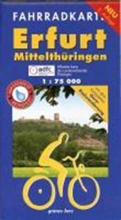 Erfurt - Mittelthüringen 1 : 75 000 Fahrradkarte
