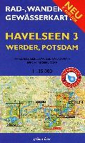 Rad-, Wander- und Gewässerkarte Havelseen 3: Werder, Potsdam 1 :