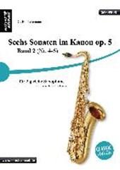 Sechs Sonaten im Kanon für zwei gleiche Saxophone Band 2 von Georg Philipp Telemann. Spielbuch. Musiknoten.