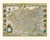 Historische Karte: Deutschland - Germania, Reprint