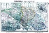 Historische Karte: Schlesien mit dem Riesengebirge, um 1890 (plano)
