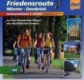 Friedensroute Münster - Osnabrück. Radwanderkarte 1 :