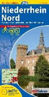ADFC-Regionalkarte Niederrhein Nord mit Tagestouren-Vorschlägen 1 : 75.000