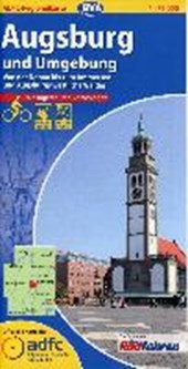 ADFC-Regionalkarte Augsburg und Umgebung mit Tagestouren-Vorschlägen 1 :