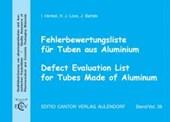 Fehlerbewertungsliste für Tuben aus Aluminium