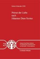 Primat der Liebe nach Johannes Duns Scotus