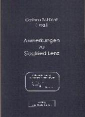 Anmerkungen zu Siegfried Lenz