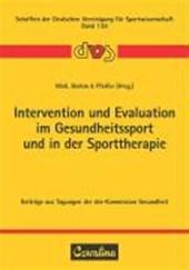 Intervention und Evaluation im Gesundheitssport und in der Sporttherapie