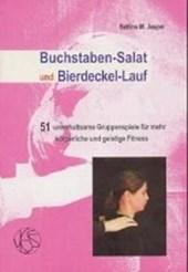 Buchstaben-Salat und Bierdeckel-Lauf