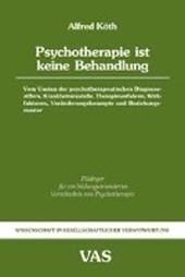 Psychotherapie ist keine Behandlung