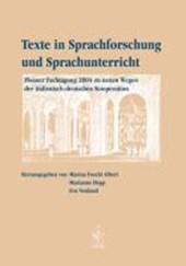 Texte in Sprachforschung und Sprachunterricht