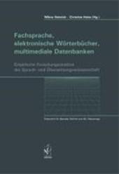 Fachsprache, elektronische Wörterbücher, multimediale Datenbanken