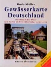 Gewässerkarte Deutschland Nordost: Elbe / Oder