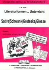 Literaturformen im Unterricht Satire/ Schwank/ Groteske/ Glosse