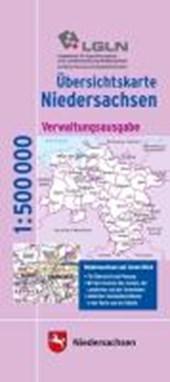 Übersichtskarte Land Niedersachsen 1 : 500 000. Verwaltungsausgabe