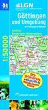 Göttingen und Umgebung mit Naturpark Münden 1 : 50 000. Topographische Karte mit Wanderwegen