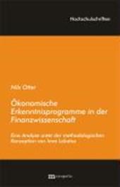 Ökonomische Erkenntnisprogramme in der Finanzwissenschaft