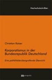 Korporatismus in der Bundesrepublik Deutschland