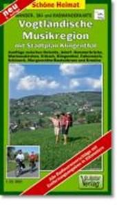 Wander-, Ski- und Radwanderkarte Vogtländische Musikregion mit Stadtplan Klingenthal 1 :
