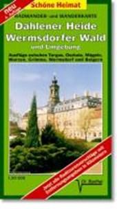 Radwander- und Wanderkarte Dahlener Heide, Wermsdorfer Wald und Umgebung 1 :